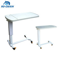 Medical adjustable folding bedside tables