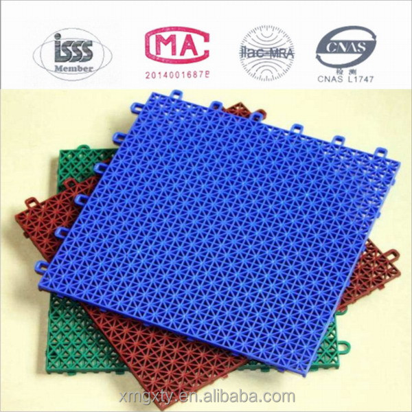 Synthetic Plastic Flooring with Suspended Assembled for Badminton,Basketball,Table tennis, Outdoor Volleyball Court flooring