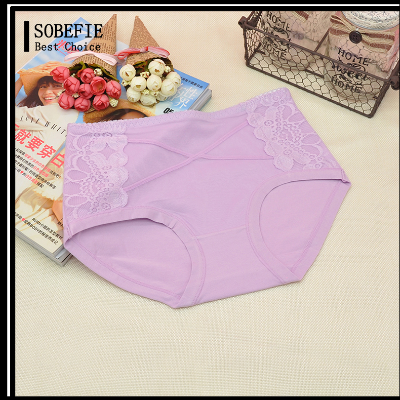 Young Girls Mini Cotton Panties for Women Skin Tight Underwear Women and Girls Candy Color Lace Panty