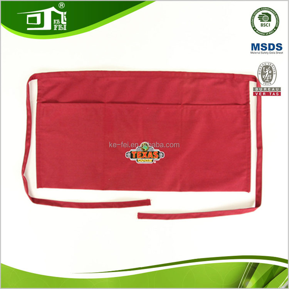 trade assurance red bar staff uniforms baking cuisine maid apron