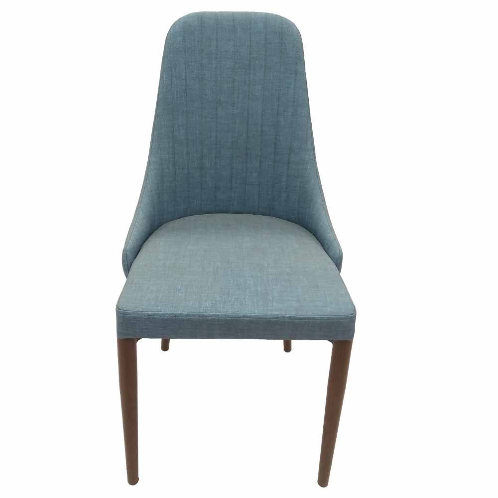 Modern Indoor Muted Fabric Arm Chair, Accent Chair with High metal legs living room furniture