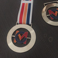 Custom silver Running medal with rotate logo medals
