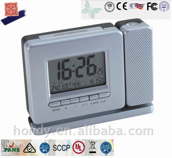 New Radio Controlled Projection Alarm Clock With Image of Current Time On Ceiling or Wall