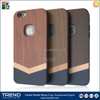 high quality protective hard wooden cover case for iphone 6 plus
