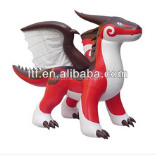 wholesale new design cheap custom lovely PVC red giant inflatable dragon for sale