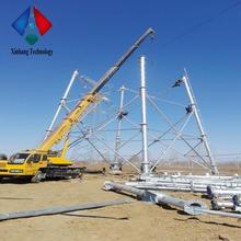 high voltage 33kv transmission line tower 110kv 132 kv 220kv 550kv stainless electrical steel pole in power distribution