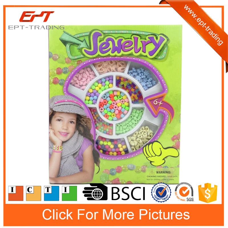 Top quality fashion diy bead jewelry kits toys set for girl