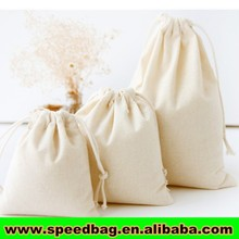 100% cotton blank organic cotton drawstring bags cotton picking bags