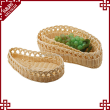 Handmade Plasic Rattan Fruit Basket Promotion Item Fancy Basket