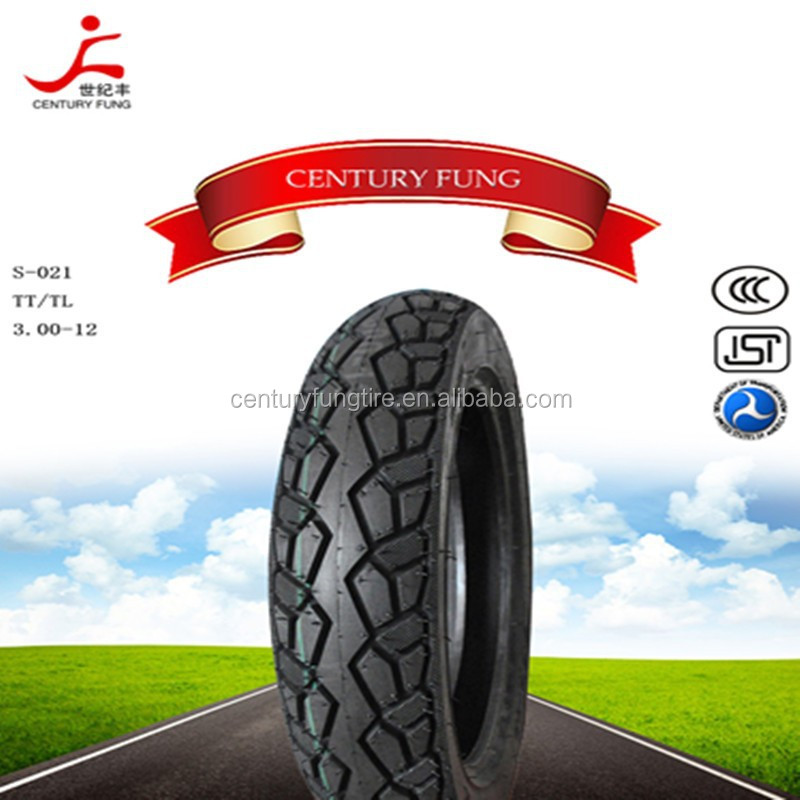 300 12 china wholesale natural rubber best quality motorcycle tires/scooter tire