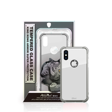 New design colorful tempered glass case phone cover anti shock case for iphone x cell phone case