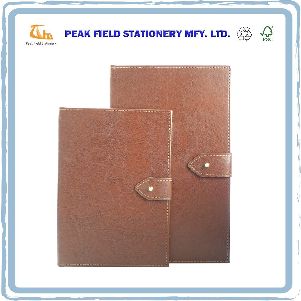 Fashionable A5 A6 Size Office Business Faux Leather Notebook