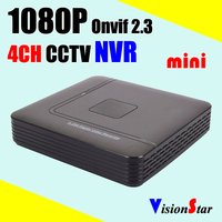 1080p 4ch nvr 4 cameras cctv video recorder dvr, 1080p onvif 2.3 nvr