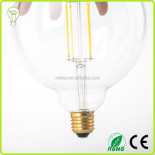 LED Vintage Filament Bulb Edison Style Energy Saving LED Clear Glass Globe Light Medium Screw E27 Base Daylight