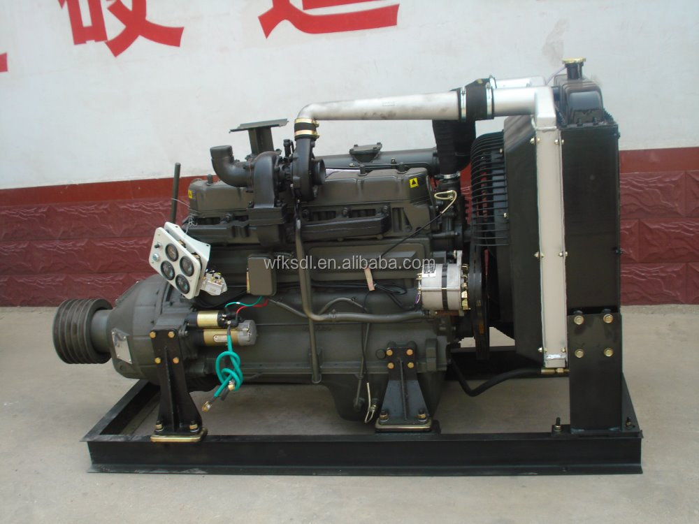 r6105azlp turbocharged inter-cooled engine diesel engine with base frame