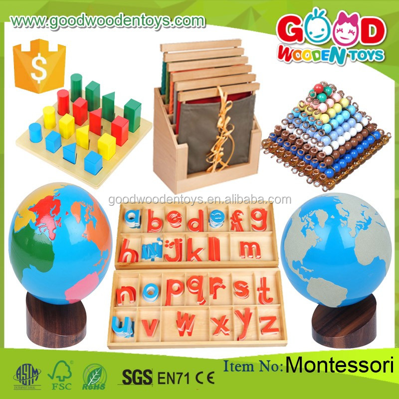 Preschool kids educational sensorial toys montessori for Materials for kids
