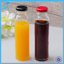 400ml 14oz beverage glass bottle with metal lid Straight bottle14oz