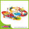 most popular toys plastic electric train track mini car racing track