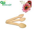 Good quality hand carved wooden ice cream spoons