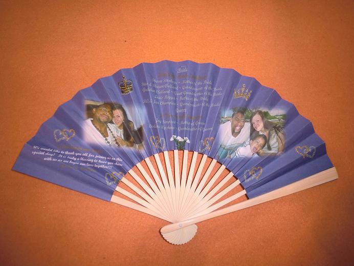 Custom logo paper fans