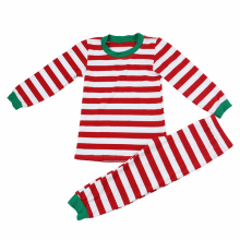 Wholesale factory Christmas adults ladies matching baby girls/boys strip XMAS cute cotton knit clothing sets child fancy pajamas