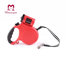 Waterproof with LED light and waste poop bags retractable dog leashes