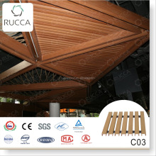 2016 WPC Wood exterior decorative ceiling 40*25mm decorative panel designer home decor China building materials supplier
