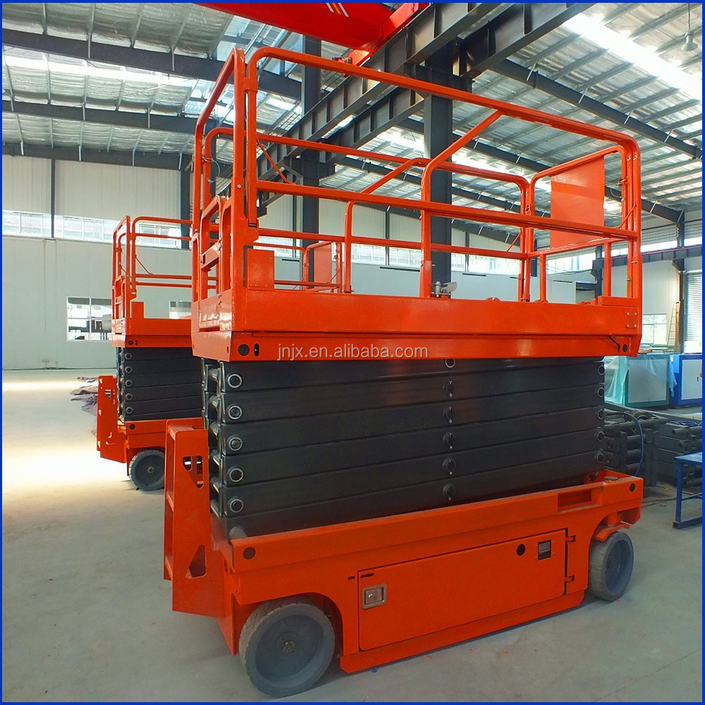 12m-14m Self-Propelled Electric Scissor Lift manlifts From China Factory
