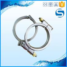 sanitary 304/316L two holes stainless steel pipe clamp