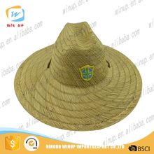 WINUP summer panama straw hat with blank black dad hat embroidery