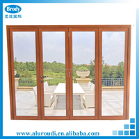 Aluminum Glass Folding Door Commercial Exterior bi folding Doors