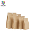Custom Printing Flat Bottom Kraft Paper Food Packaging Bag with Zipper and Window