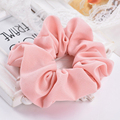 Factory supply Korea sweet solid color Elastic Ponytail Holder