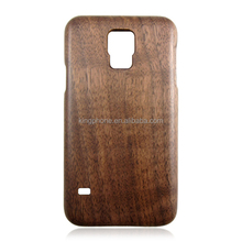 Wooden phone case black real wood phone shell two parts back cover for Samsung galaxy s5