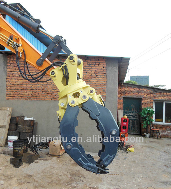 Excavator Hydraulic Rotating Grapple Wood,wood grapple