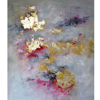 Modern abstract golden oil painting for hotel