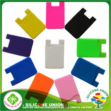 Wholesale eco-friendly eco-friendly mobile card holder ,3M sticker silicone smart wallet purse