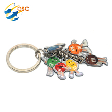Promotional Gift Leather Surfboard Keychain Metal