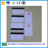 CR80 Plastic contact smart IC card/ SLE4428 chip cards with magnetic stripe