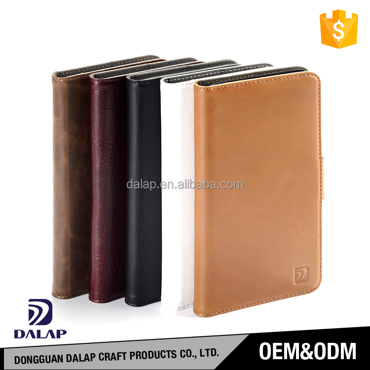 Free sample MOQ=100pcs custom design genuine flip leather cell phone case for iphone 6s/7/7 plus