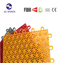 ITF certificate interlocking tennis court plastic flooring