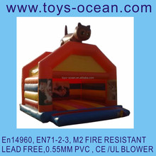 inflatables A frame bounce with animal design and roof