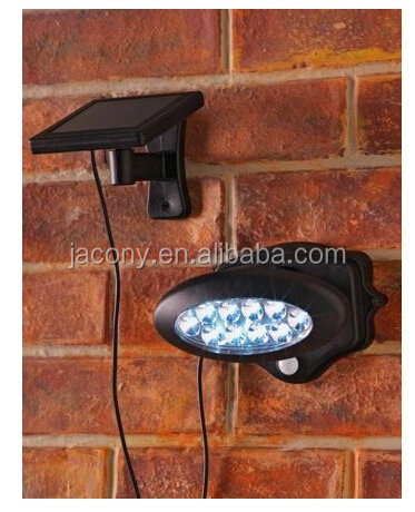 10 LED motion activated Solar Security led Light for garage,patio (JL-3537)