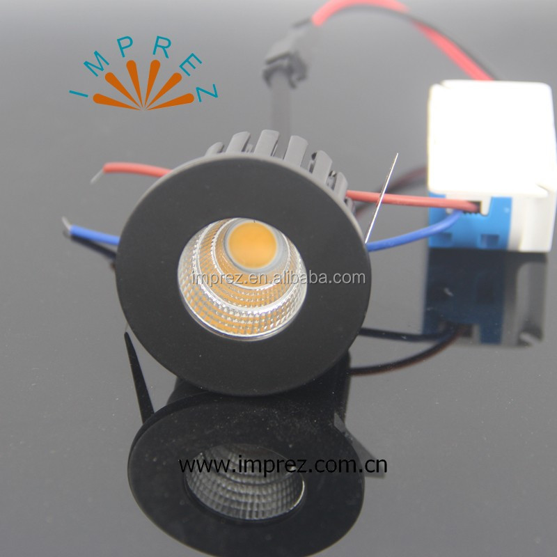 Recessed micro miniature spot down light small mini COB LED downlight 5W dimmable