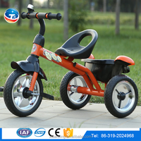 Wholesale high quality best price hot sale kids tricycle with plastic basket steel frame for kids 3-7 years old