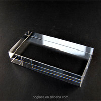 Blank BK7 optical glass lens, glass block