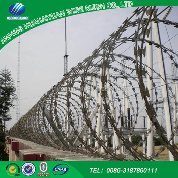 Hot sale Alibaba China barbed razor wire price Used in many high security applications