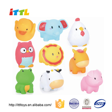 Many items mixed pvc vinyl toy animal/lovely soft rubber toys for kids