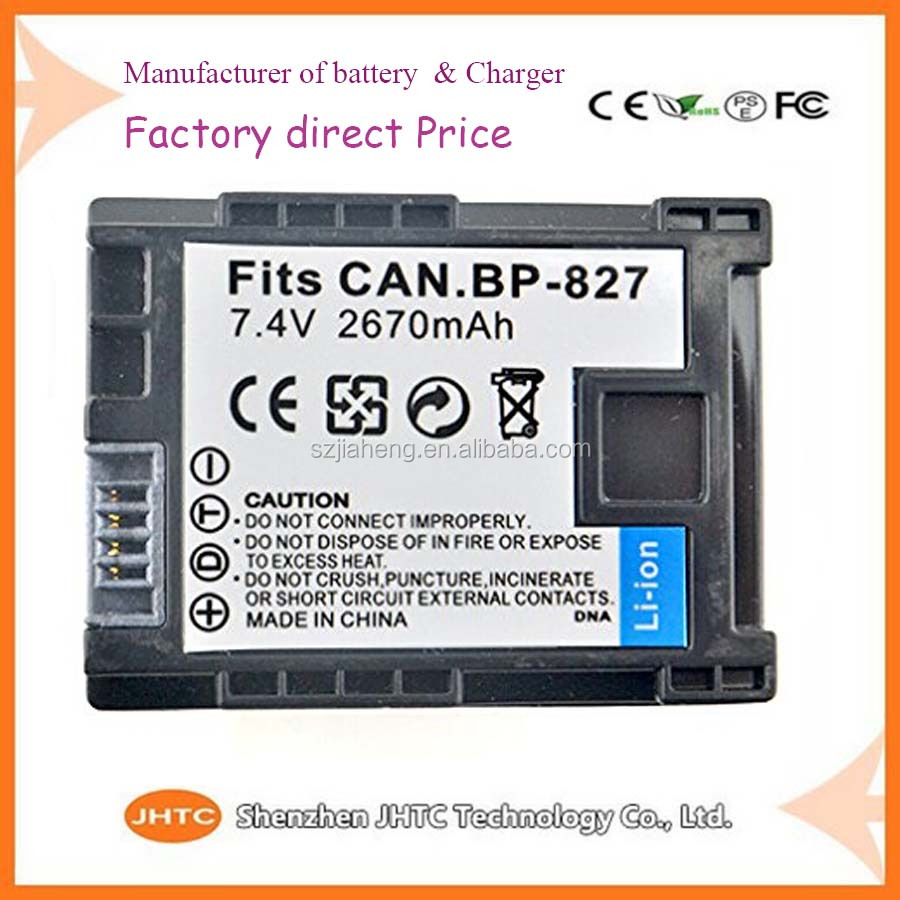 7.4v Replacement Camcorder <strong>Batteries</strong> for canon BP-827+