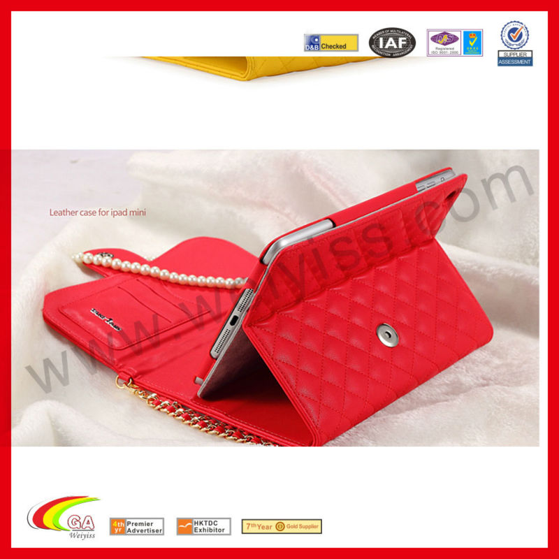 Ladies Fashionable Leather Handbags for iPad Mini Leather Case